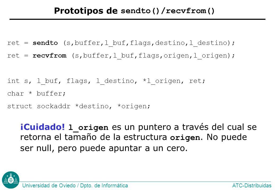 Prototipos de sendto()/recvfrom()