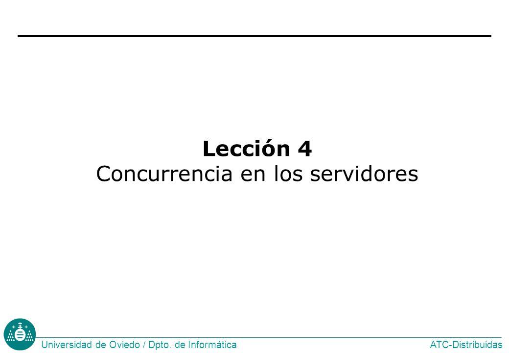 Lección 4 Concurrencia en los servidores