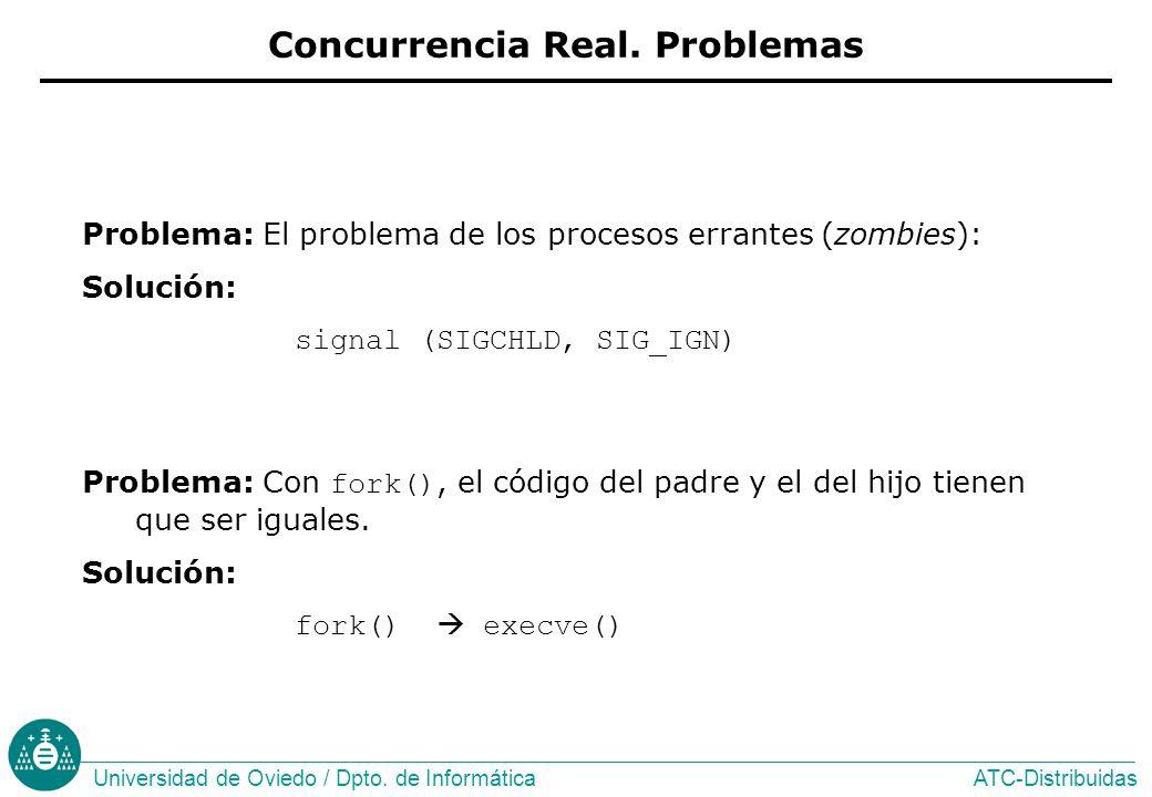 Concurrencia Real. Problemas