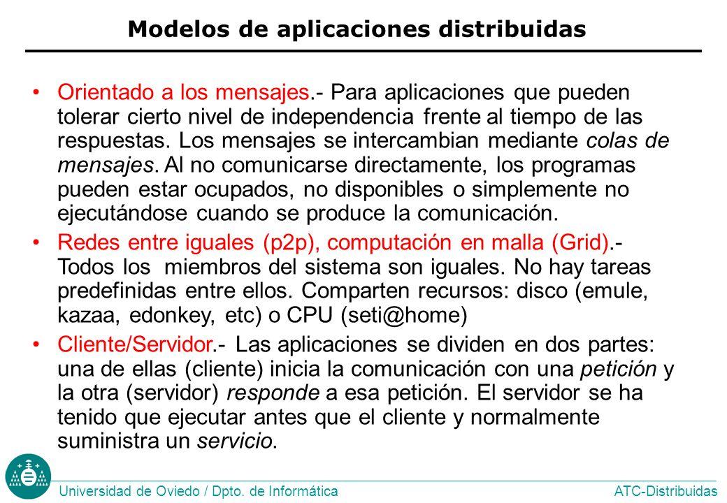 Modelos de aplicaciones distribuidas