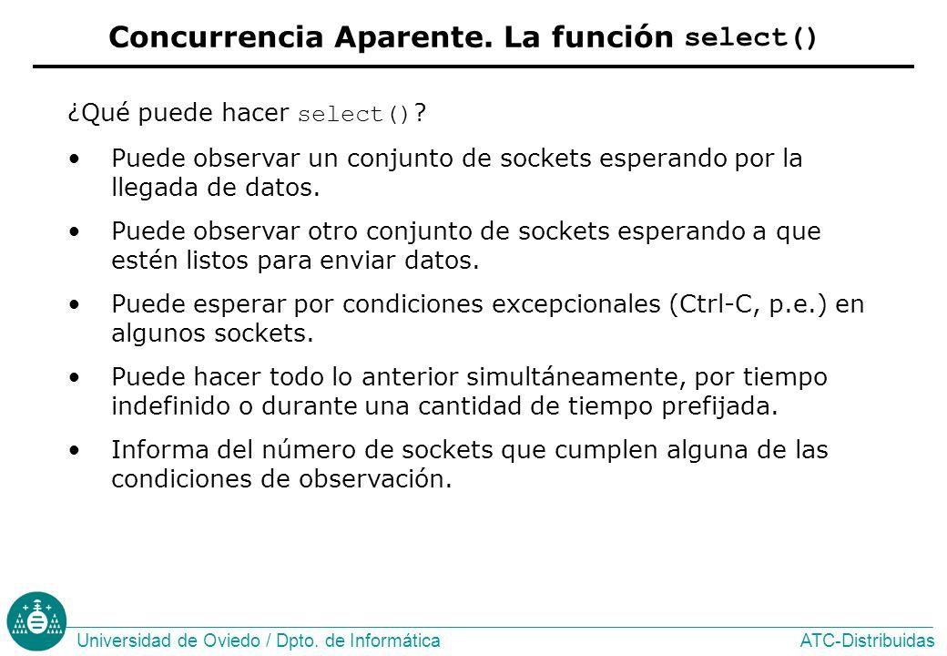 Concurrencia Aparente. La función select()