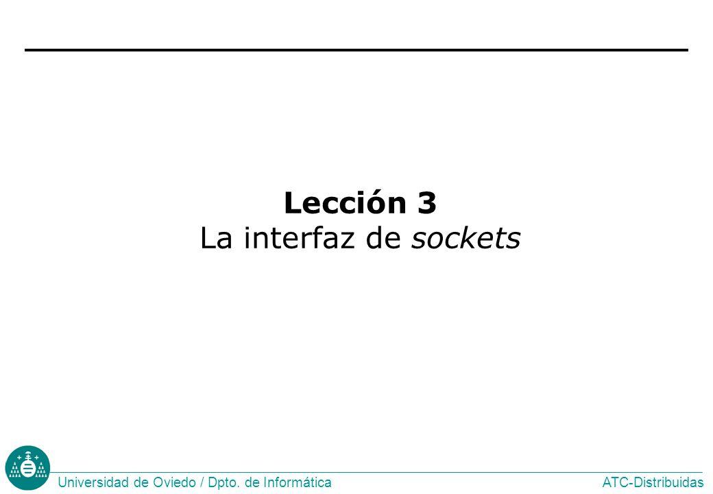 Lección 3 La interfaz de sockets