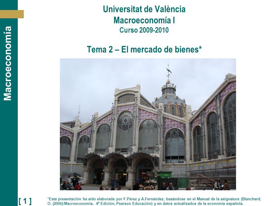 Universitat de València Macroeconomía I Curso 2009-2010 Tema 2 – El mercado de bienes*