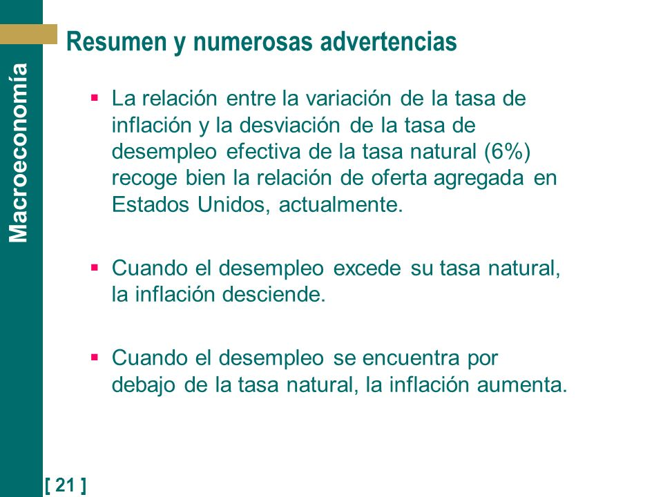 Resumen y numerosas advertencias