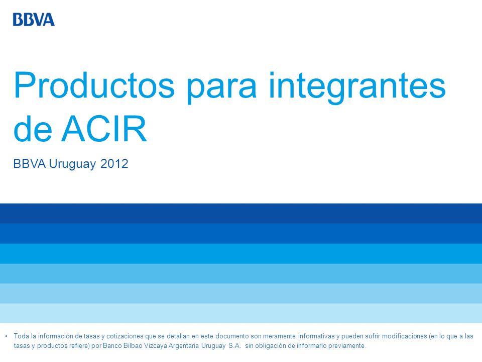Productos para integrantes de ACIR