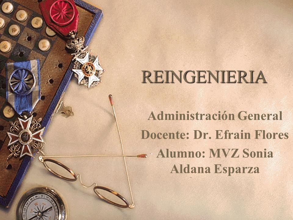 REINGENIERIA Administración General Docente: Dr. Efrain Flores