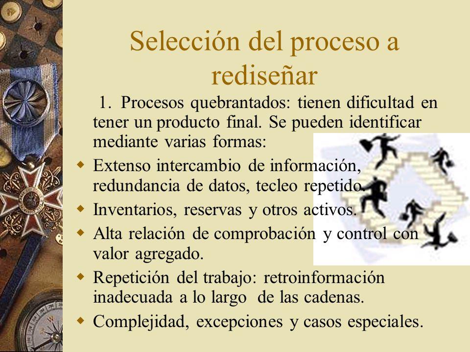 Selección del proceso a rediseñar