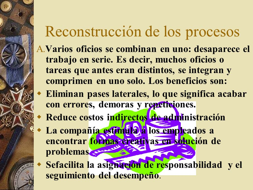 Reconstrucción de los procesos