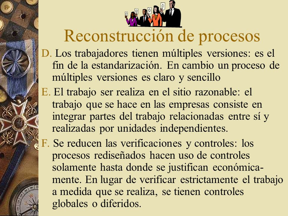Reconstrucción de procesos