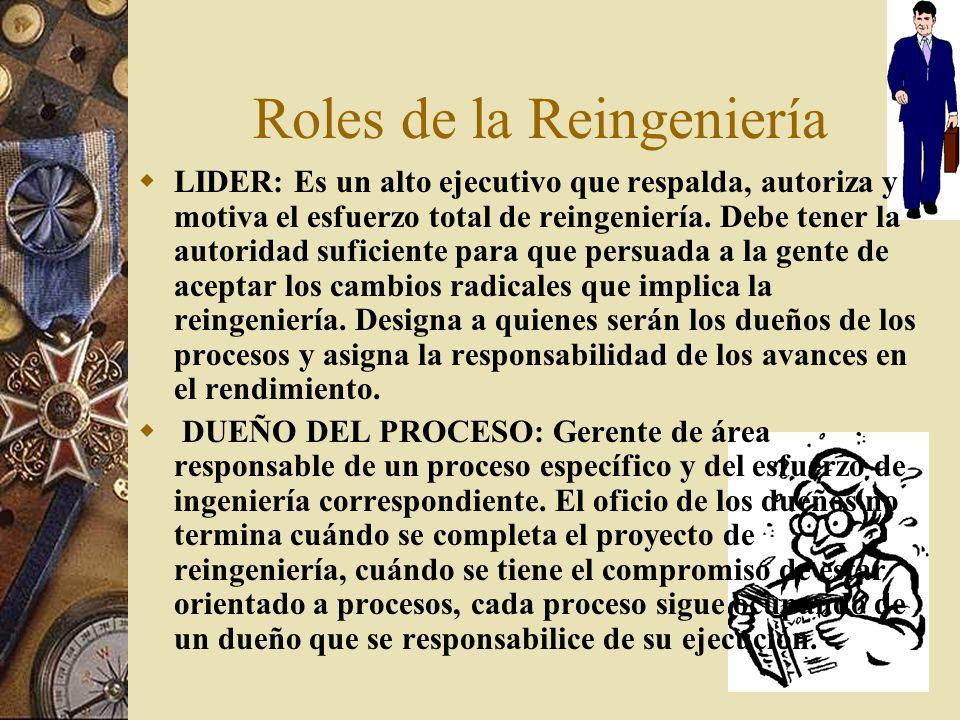 Roles de la Reingeniería