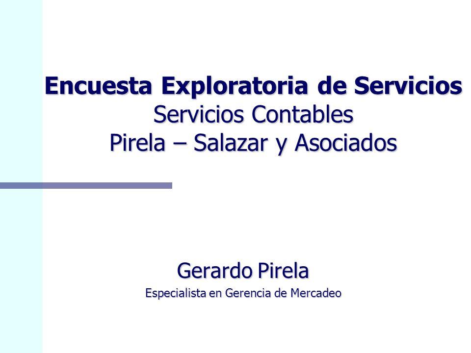 Gerardo Pirela Especialista en Gerencia de Mercadeo