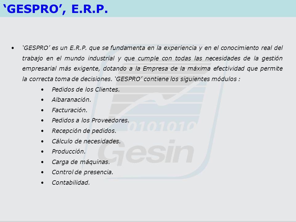'GESPRO', E.R.P.