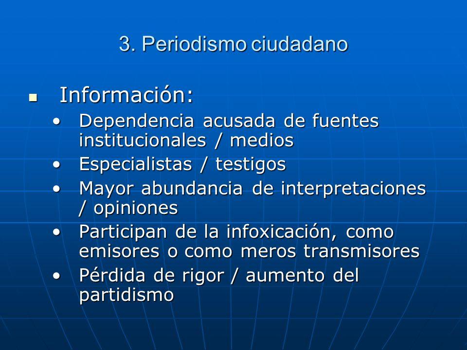 3. Periodismo ciudadano Información: