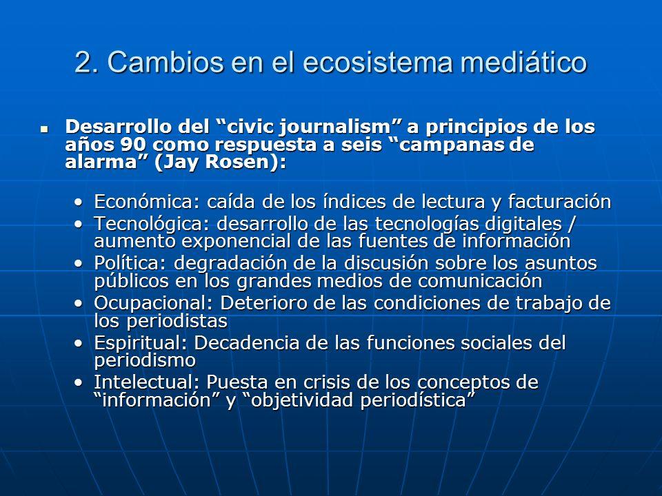 2. Cambios en el ecosistema mediático