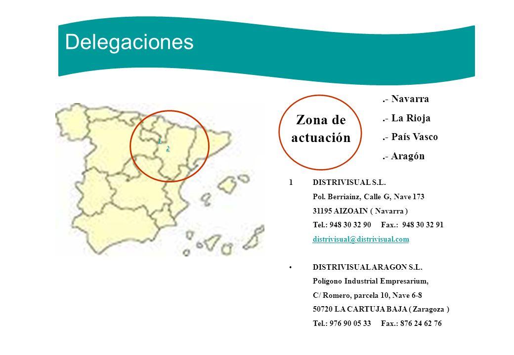 Delegaciones 2 Zona de actuación .- Navarra .- La Rioja .- País Vasco