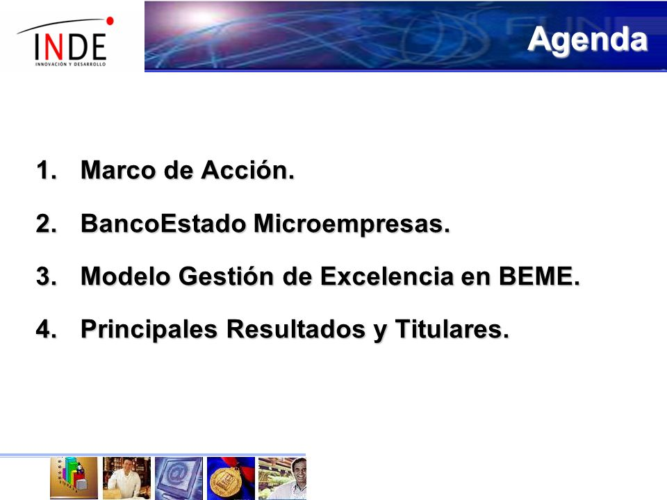 Agenda Marco de Acción. BancoEstado Microempresas.
