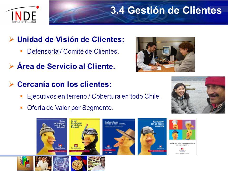 3.4 Gestión de Clientes Unidad de Visión de Clientes: