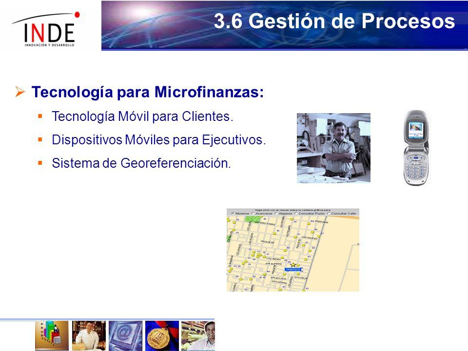 3.6 Gestión de Procesos Tecnología para Microfinanzas:
