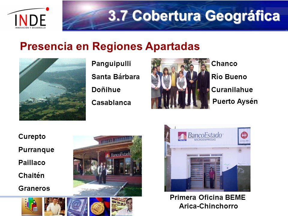 3.7 Cobertura Geográfica Presencia en Regiones Apartadas Panguipulli