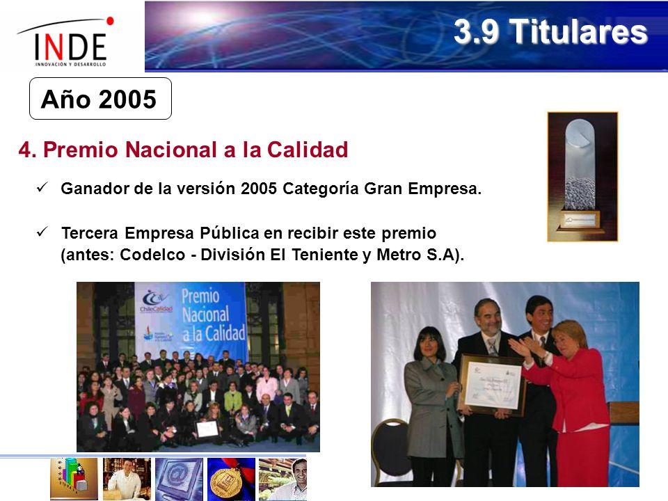 4. Premio Nacional a la Calidad