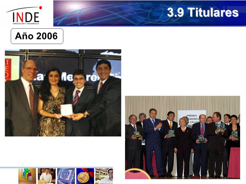 3.9 Titulares Año 2006