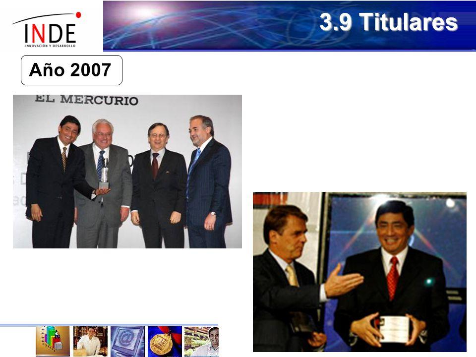 3.9 Titulares Año 2007