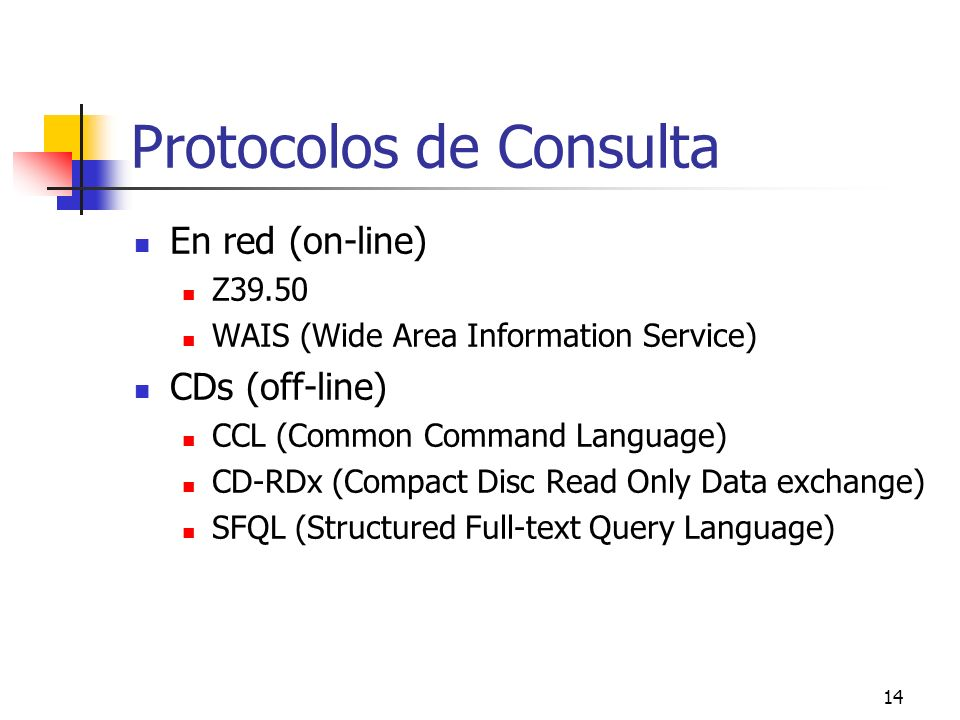 Protocolos de Consulta