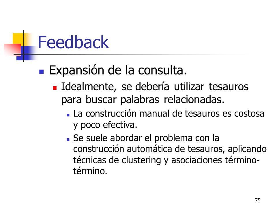 Feedback Expansión de la consulta.