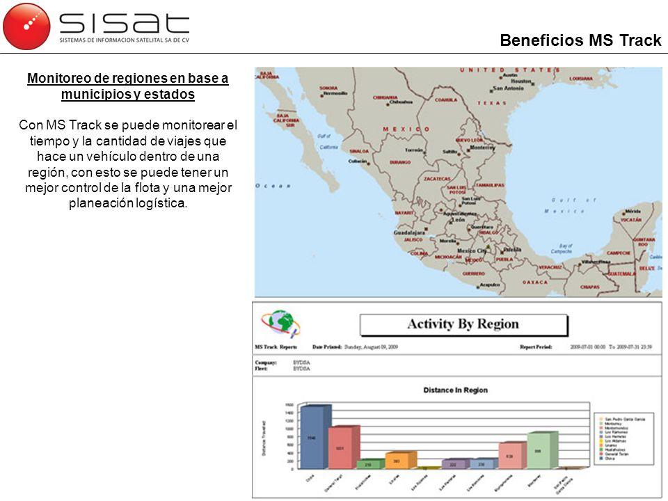 Monitoreo de regiones en base a municipios y estados