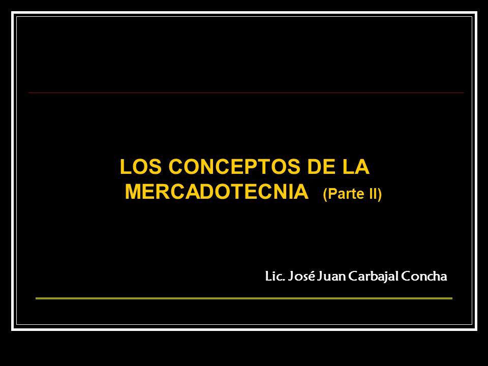 LOS CONCEPTOS DE LA MERCADOTECNIA (Parte II)