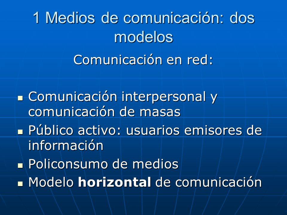 1 Medios de comunicación: dos modelos