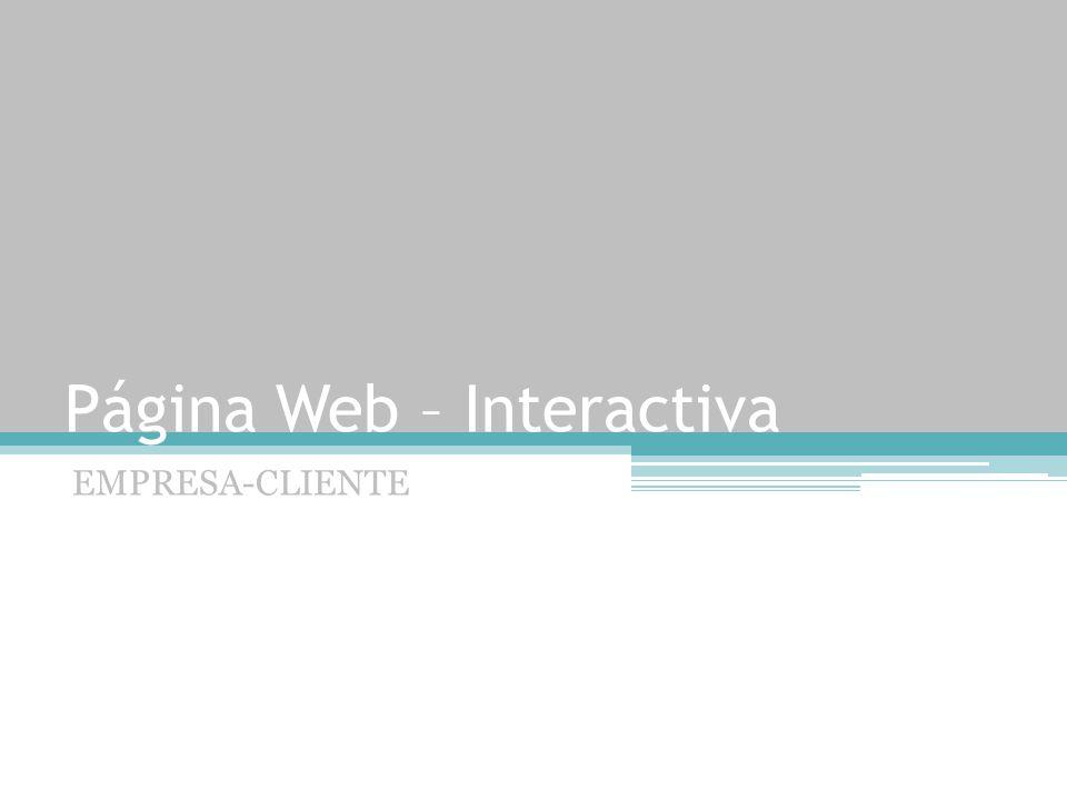 Página Web – Interactiva