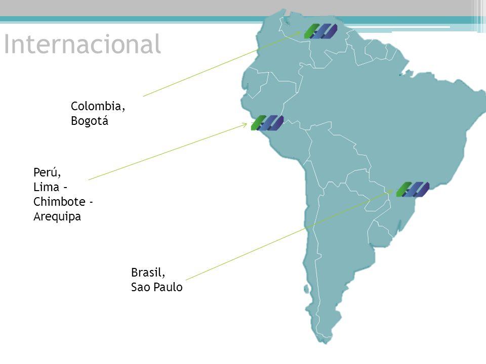 Internacional Colombia, Bogotá Perú, Lima – Chimbote - Arequipa