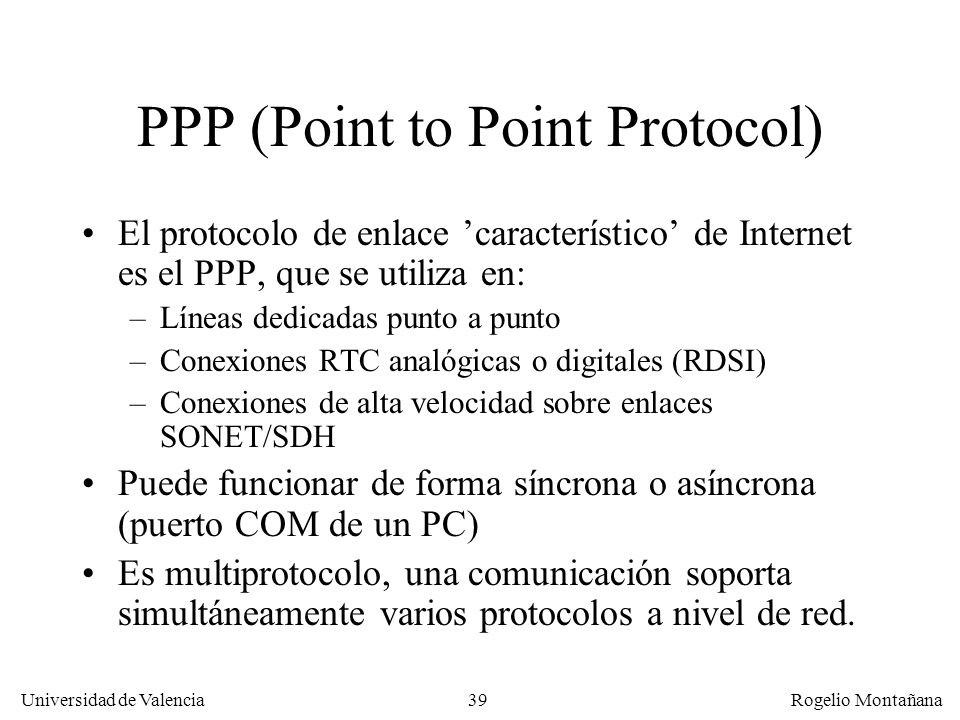 PPP (Point to Point Protocol)