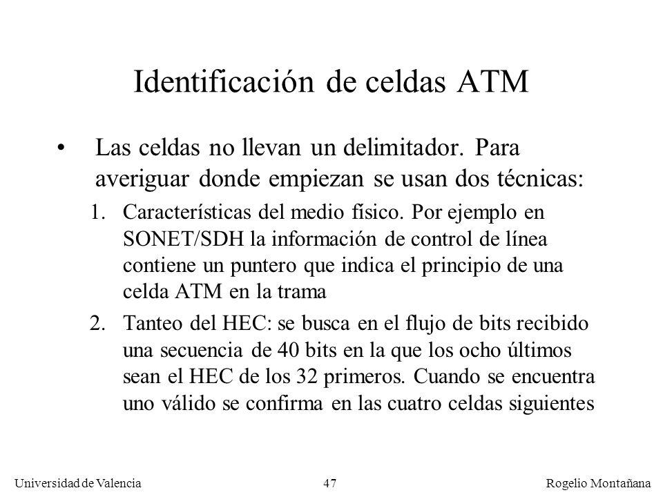Identificación de celdas ATM