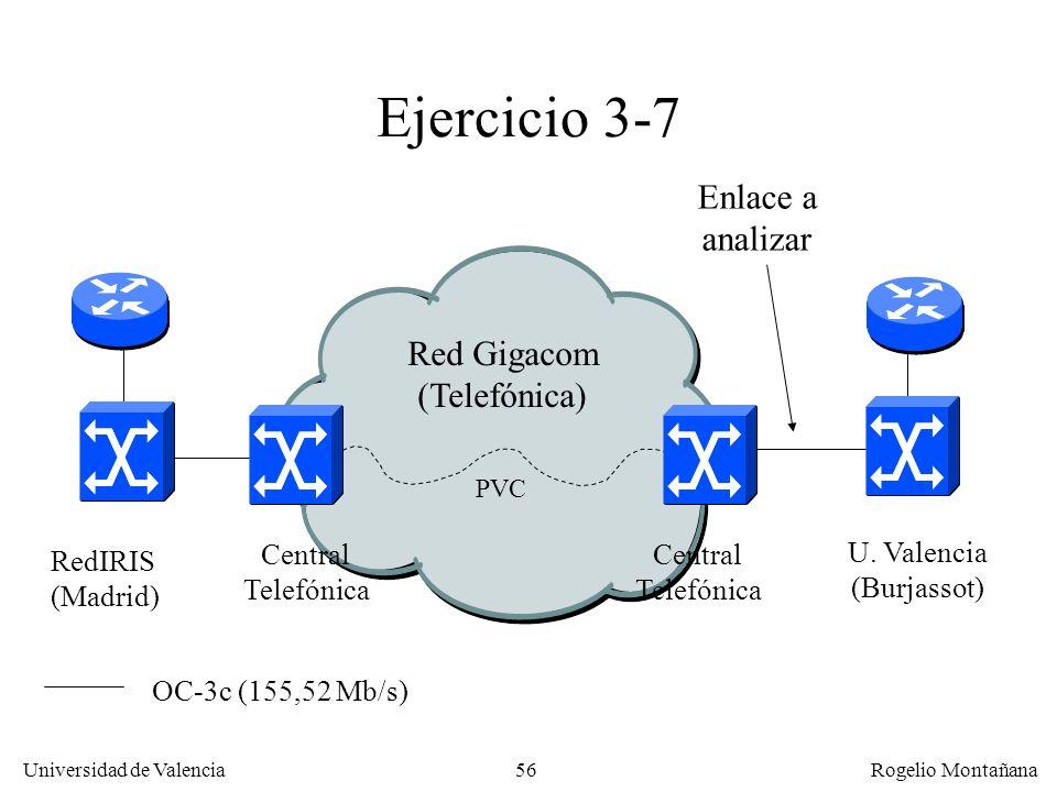 Ejercicio 3-7 Enlace a analizar Red Gigacom (Telefónica) RedIRIS