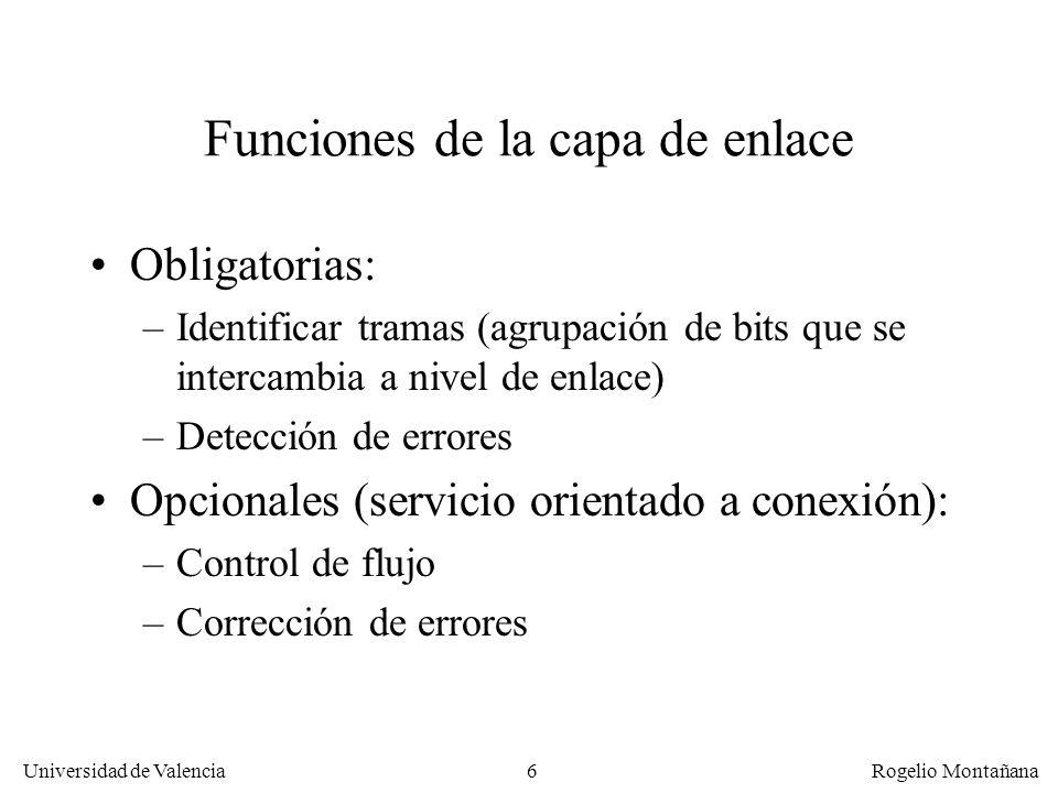 Funciones de la capa de enlace