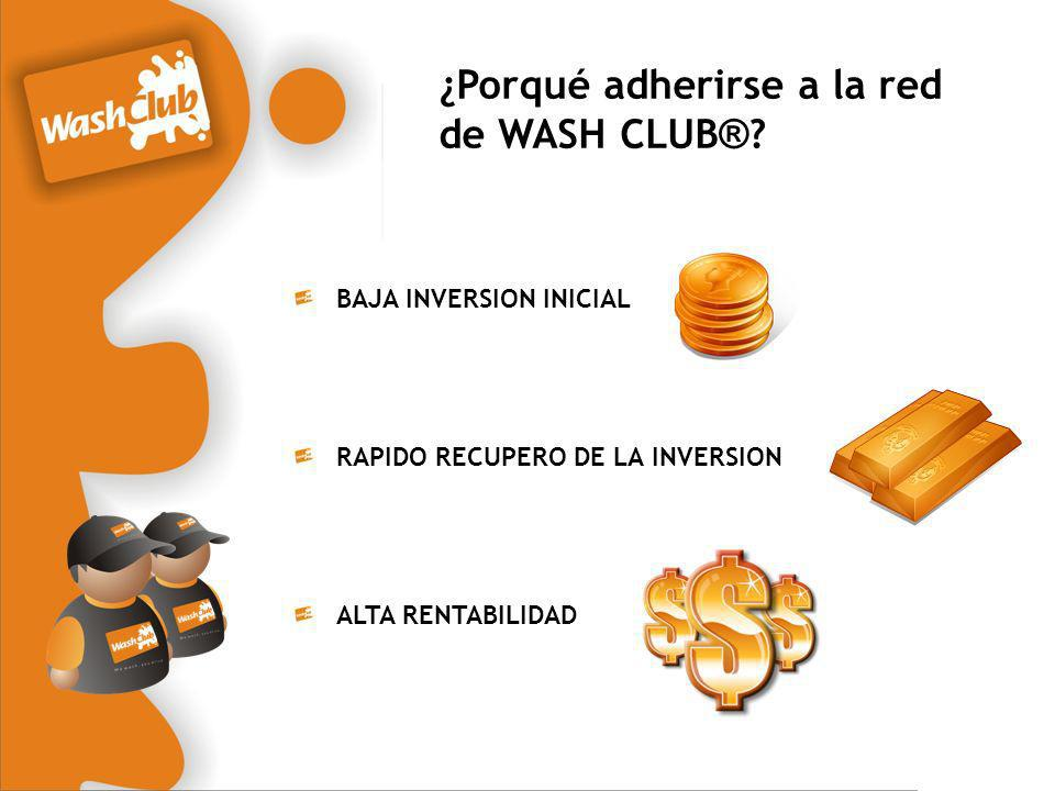 ¿Porqué adherirse a la red de WASH CLUB®