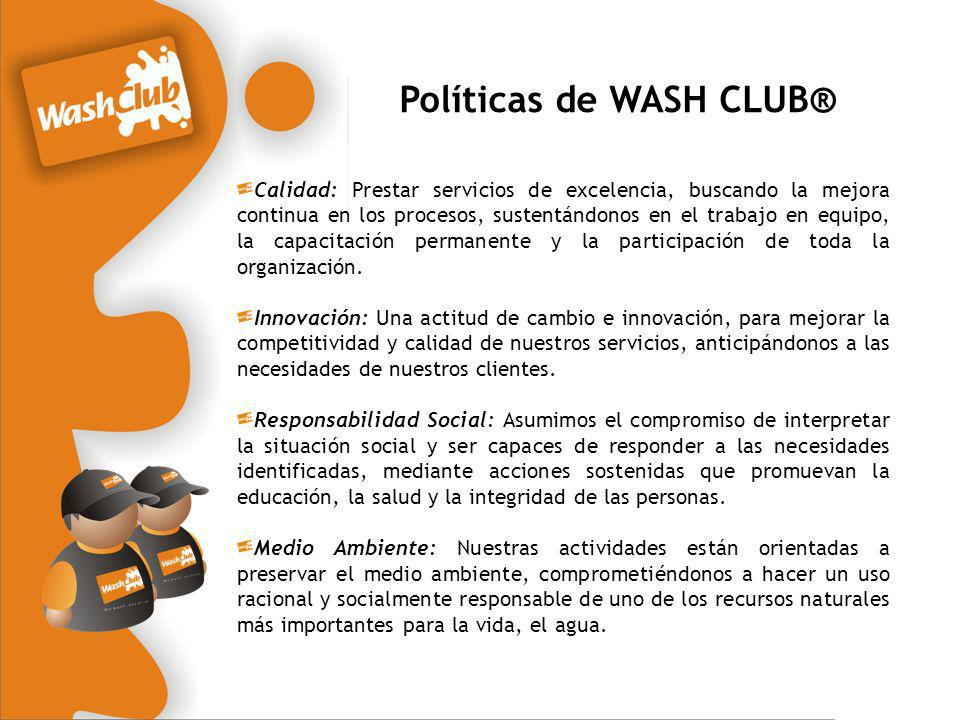 Políticas de WASH CLUB®