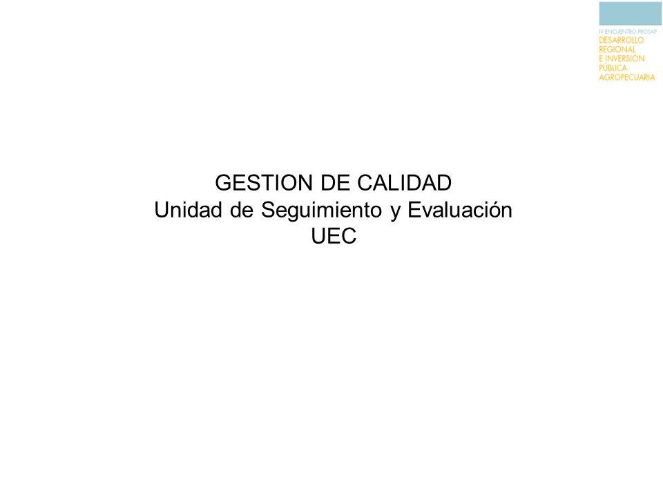 Unidad de Seguimiento y Evaluación