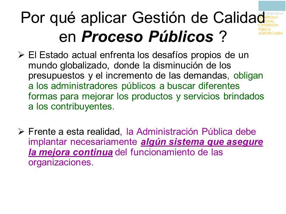 Por qué aplicar Gestión de Calidad en Proceso Públicos