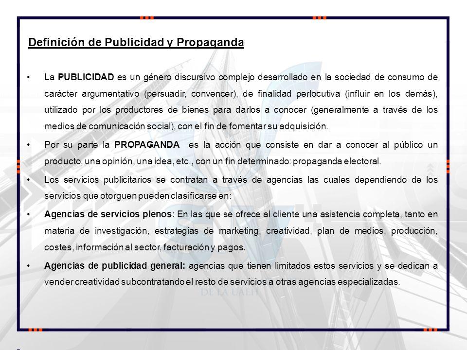 Definición de Publicidad y Propaganda
