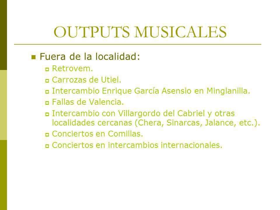 OUTPUTS MUSICALES Fuera de la localidad: Retrovem. Carrozas de Utiel.