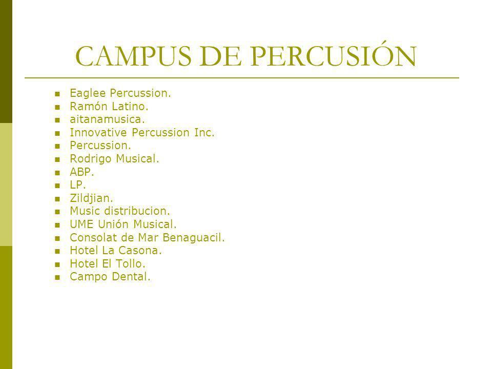 CAMPUS DE PERCUSIÓN Eaglee Percussion. Ramón Latino. aitanamusica.