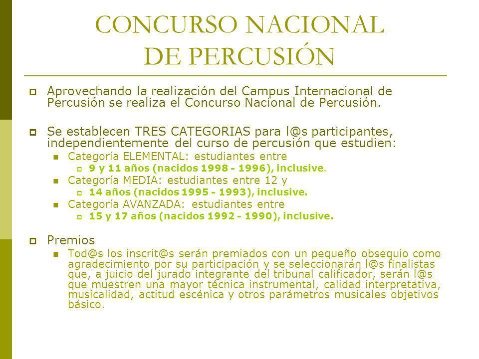CONCURSO NACIONAL DE PERCUSIÓN