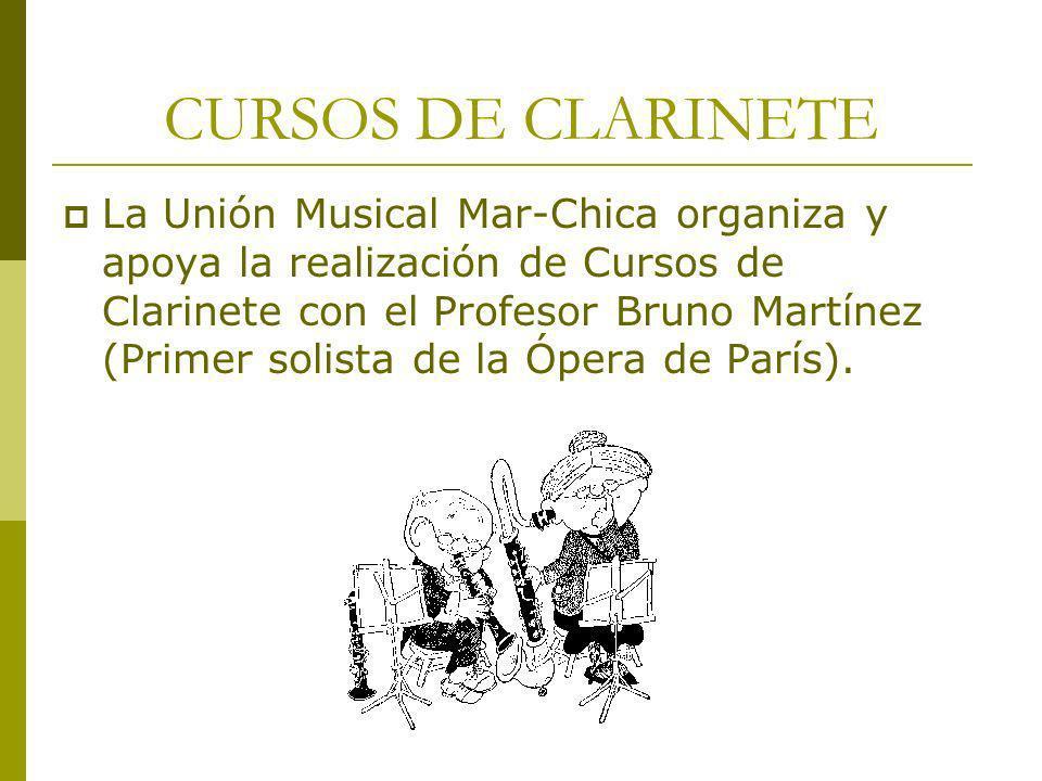 CURSOS DE CLARINETE
