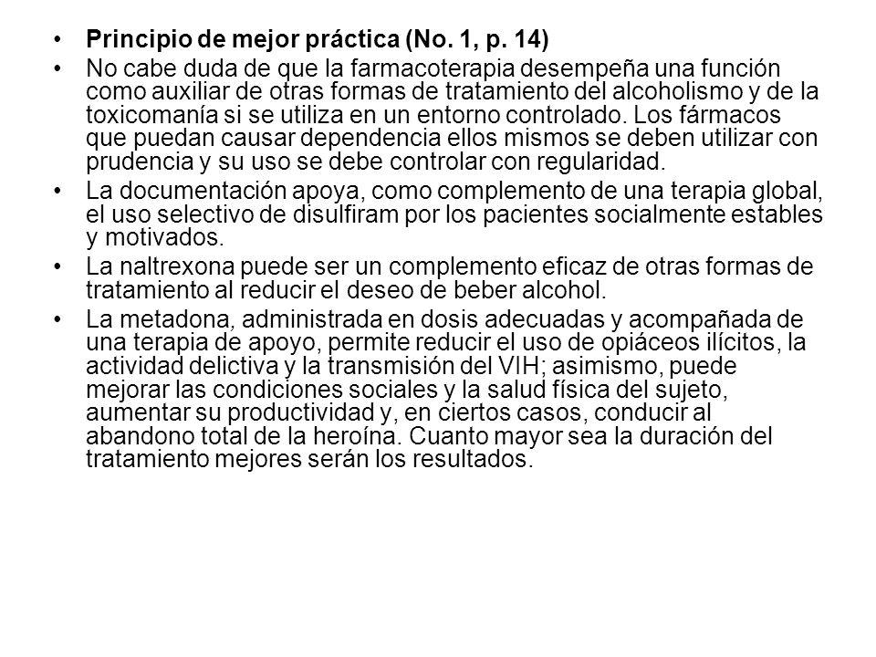 Principio de mejor práctica (No. 1, p. 14)