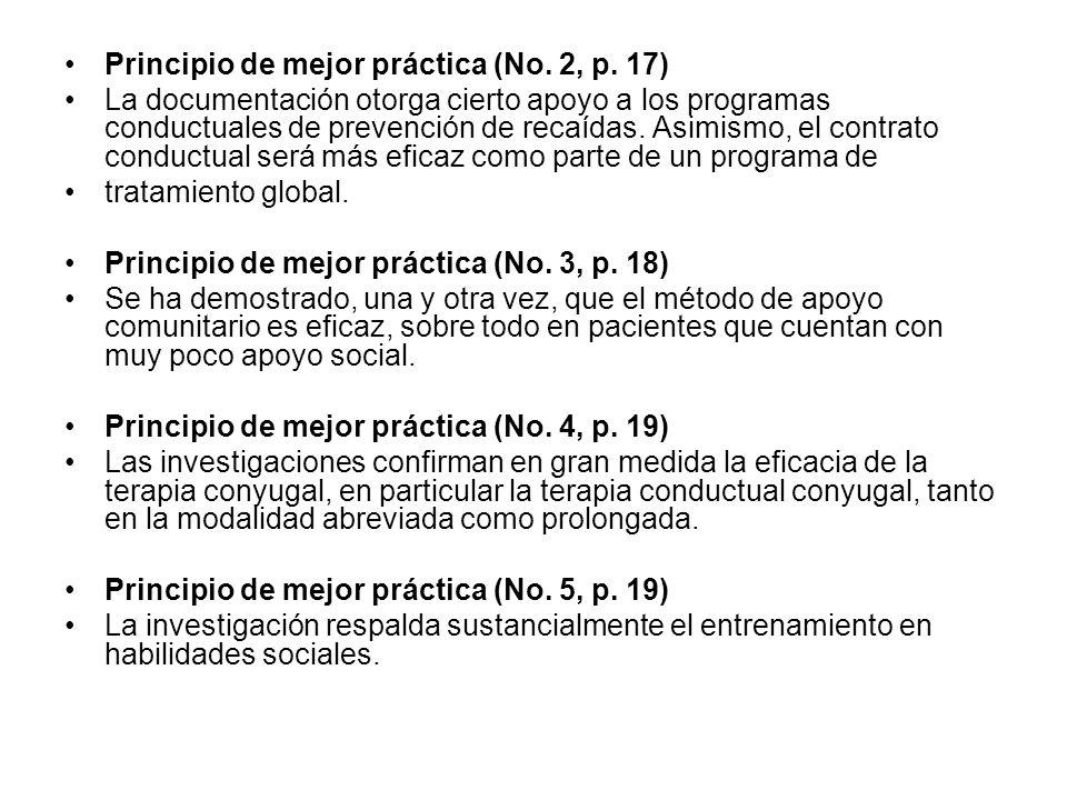 Principio de mejor práctica (No. 2, p. 17)