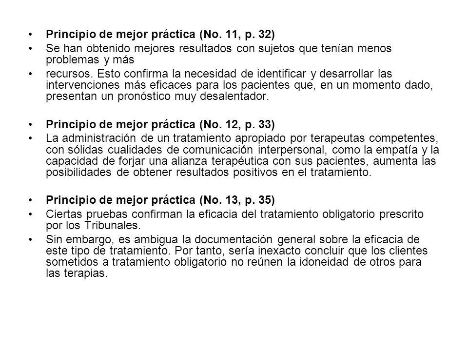 Principio de mejor práctica (No. 11, p. 32)