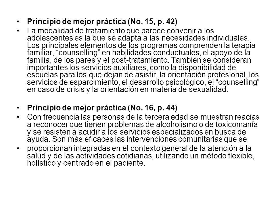 Principio de mejor práctica (No. 15, p. 42)